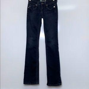 MEK Black Oaxaca Denim Boot Cut Jeans 24 W / 35 L